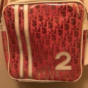 Dior purse pink  white transparent bag crossbody